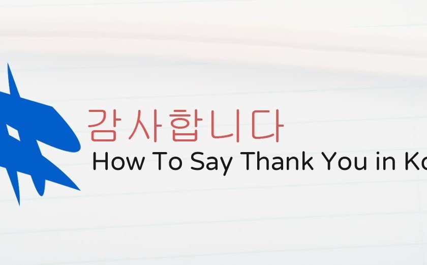 How To Say Thank You in Korean Kamsahamnida