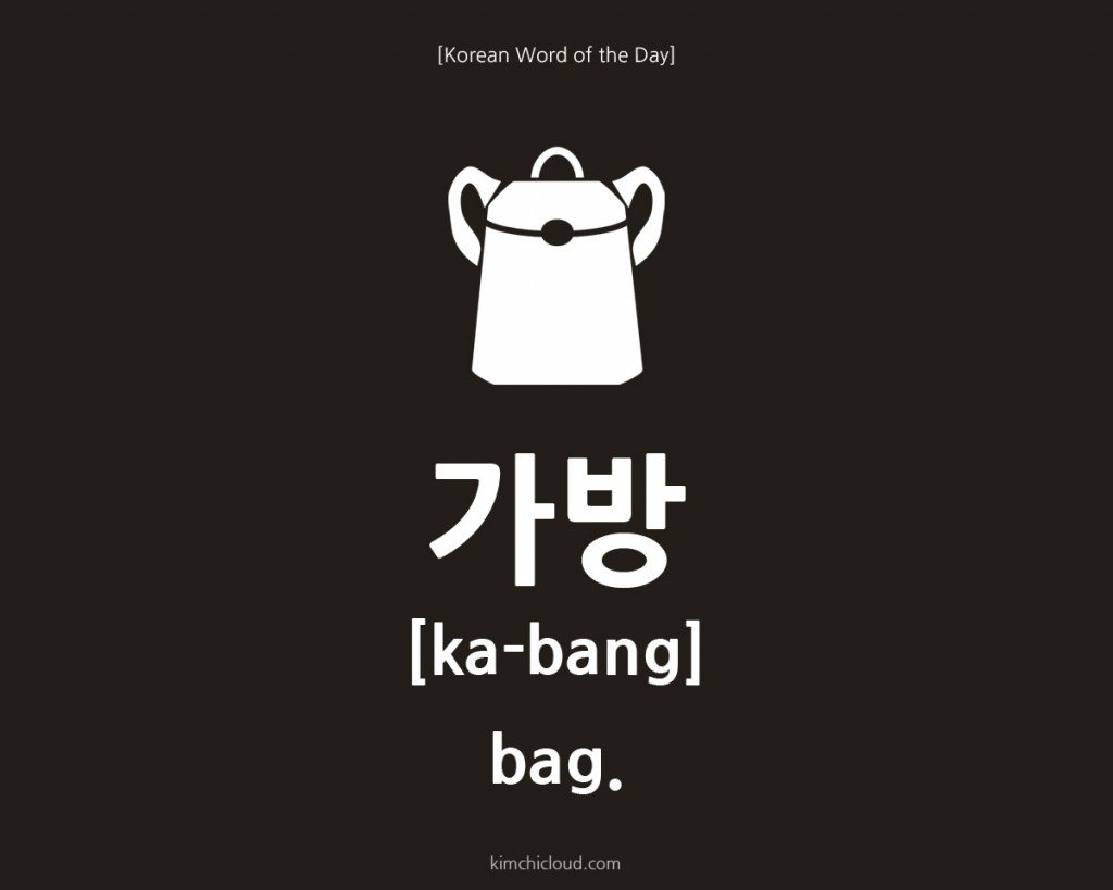 Korean Word of the Day: How to say Bag in Korean