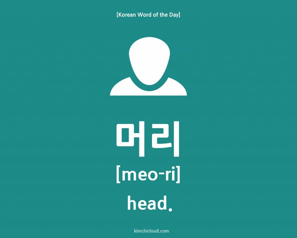 Korean Word of the Day: How to say Head in Korean