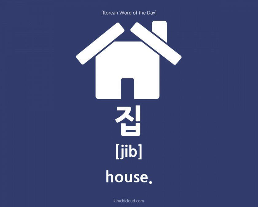 how to say house in korean