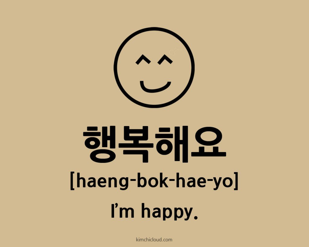 How To Say Happy In Korean