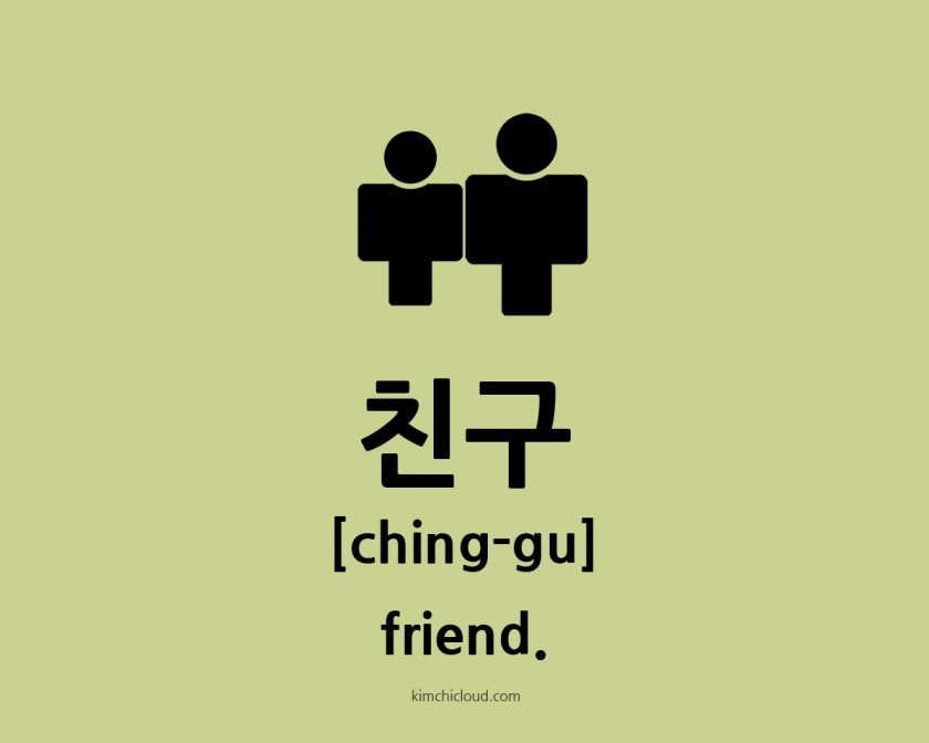 how to say friend in korean