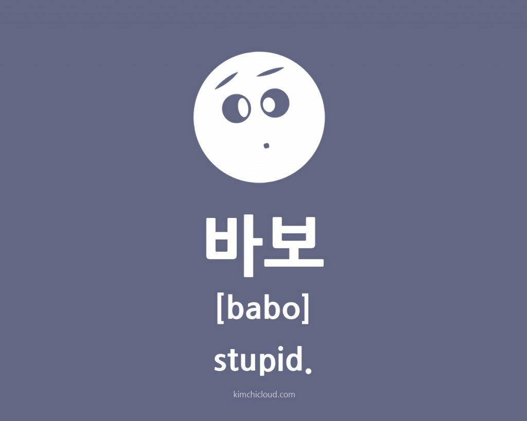 How to say stupid in Korean