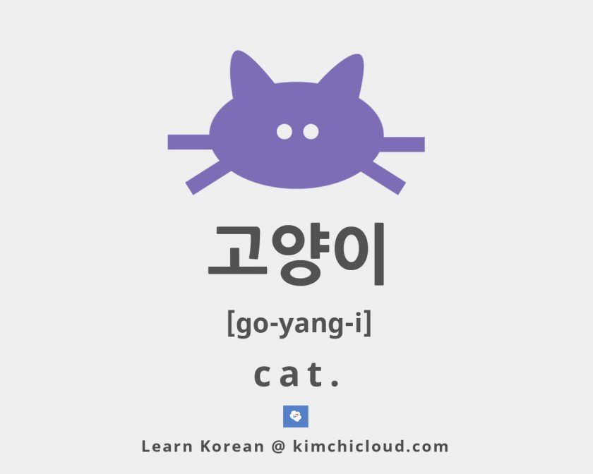 How To Say Cat in Korean