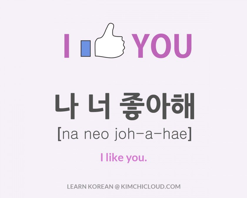 How To Say I Like You in Korean
