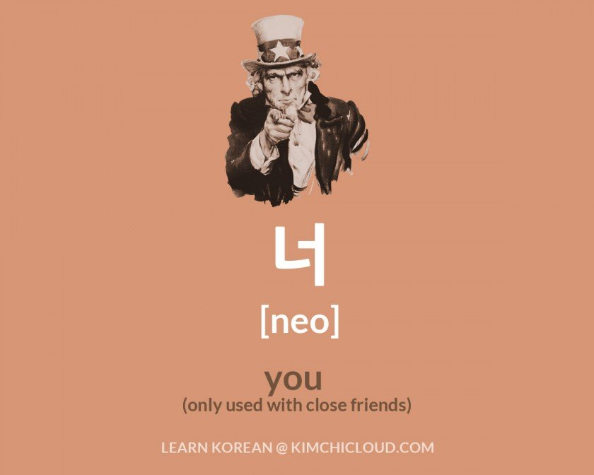 How to say You in Korean